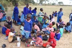 Baringo, Kenia, de eerste maaltijd
