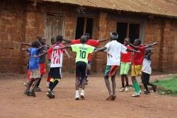 MYSA fc Korogocho, warming up Donyo Sabuk Primary School