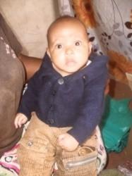 Baby Ellen (4,5 mnd), een gezonde, blakende baby, Ndulya, Grace, Teresia