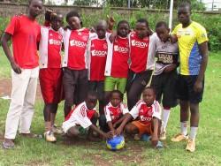 Een groet uit Korogocho, Nairobi Kenia, het team van Nyoda
