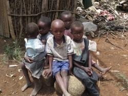 Aantal van de kinderen van Francisca, Baringo, Berggebied Donyo Sabuk, Kenia
