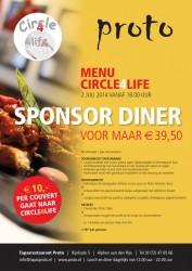 Proto sponsordiner, Proto4life, Proto Tapas Restaurant, Circle4life, opbrengst projecten Kenia