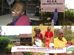 Susan, Kambui school for the Deaf, family day, mother, sister Victoria, special education Circle4life Kenya