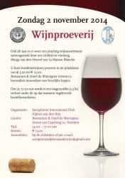 Wijnproeverij, Restaurant De Watergeus, Soroptimist Alphen aan den Rijn, Circle4life, sponsoring