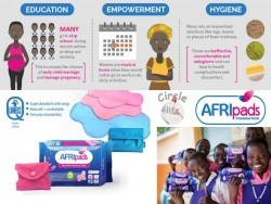 AFRIpads, Circle4life, herbruikbaar maandverband, re-usable sanitary pads, school girls, hygiene