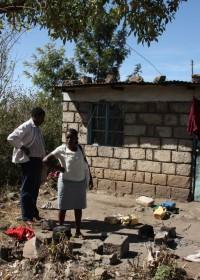 Het huisje waar Joshua met zijn drie zusjes en moeder woonde