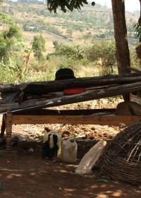 Anthony's bed, Baringo, Kenia