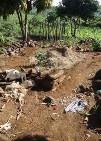 Baringo, Kenya, de grond waar Anthony's huisje gaat komen