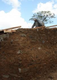 Baringo, Kenia, het huisje van Catherine nadert zijn voltooing
