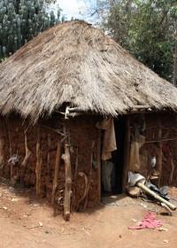 Park Village, Berggebied Baringo-Donyo Sabuk, huisje waar vijf kinderen slapen.