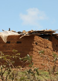 Mithini Ithanga, het door de vriend van de moeder gebouwde nieuwe huis