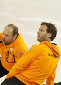 Coach Gerard Kemkers, Sven Kramer en verzorger Rutger Tijssen, Sotsji 2014, Lezing Circle4life