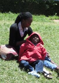 Felix voor de operatie in Kijabe, maart 2014, medical aid, vulnerable children, social work