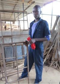 Josephat bij Kolping Vocational Training Centre, Makutano, Kenia