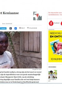 Margarete Njeri in OneWorld/Werelddoeners