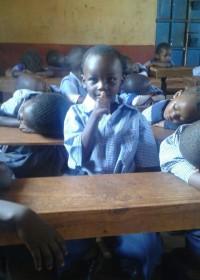 Deno in de Nursery, zijn klasgenootjes slapen na de lunch op school, Donyo Sabuk, Education, Circle4life Kenya