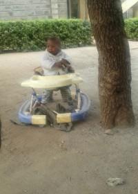 Veertien maanden oude Irene Mbithe bij Kindertehuis Community of Hope, Kenia, Circle4life, crisishulp