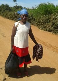 Een van de vrouwen uit de projecten van stichting Circle4life, powerful women, Kenia