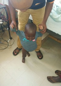 Bryan at the physiotherapist, he needs therapy twice a week, Circle4life Kenya, medical aid