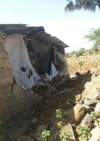 Het door een buffelstier aangevallen huis van Catherine, Baringo, Kenia, crisishulp, Circle4life Kenya