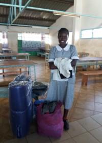 Susan bij de dovenschool in Murang'a, Kenia, speciaal onderwijs, Circle4life Kenia