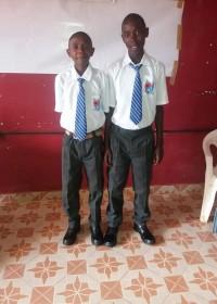 Julius en Josphat in hun nieuwe schooluniform, St.Mary's High School, onderwijs, DISC INITIATIVES, CIRCLE4LIFE CBO