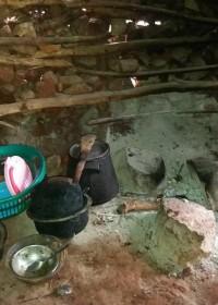 Lege pannen, geen voedsel, actie Circle4life voedseldonatie, water en zeep, corona-tijd Kenia
