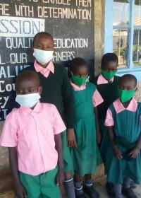 Een aantal kinderen uit Kitambaasye weer op school, onderwijs, Circle4life Kenia