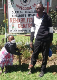 Akoth en Onesmus terug in Ol Kalou, nieuw schoolseizoen 2021, speciaalonderwijs, Circle4life Kenia